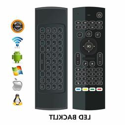 2.4G BACKLIT Remote Control Air Mouse Wireless Keyboard Andr