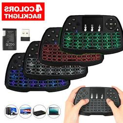 Mini KEYBOARD Backlit 2.4GHz Wireless Touchpad Remote For PC
