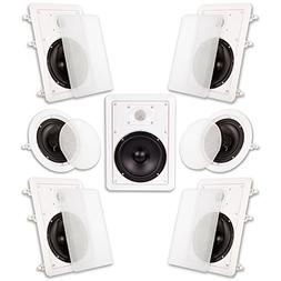"Acoustic Audio HT-67 In Wall In Ceiling 1750 Watt 6.5"" Home"