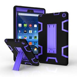 Amazon Fire HD 8 2016 Case, Jeccy 3in1 Full-body Shock Proof