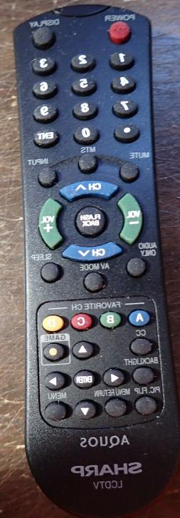 SHARP AQUOS LCDTV TV REMOTE - NEW - FREE SHIPPING