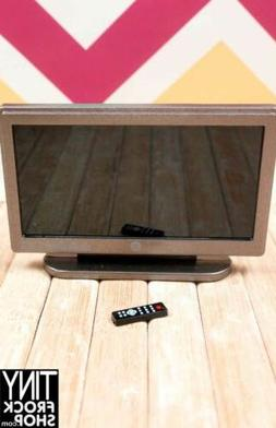 "Barbie 3.25"" Flat Screen TV with Remote!"