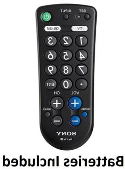 Sony Large Button Universal Remote Control, Easy to use for