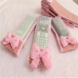 Dustproof TV Air Condition Remote Control Case Cover Lace Co
