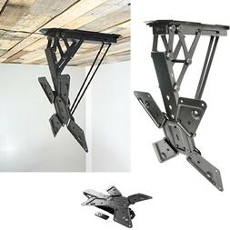Electric Motorized Flip Down Pitched Roof Ceiling TV Mount f