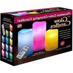 Glow Candles Flameless Color-Changing Candles, 1 ea