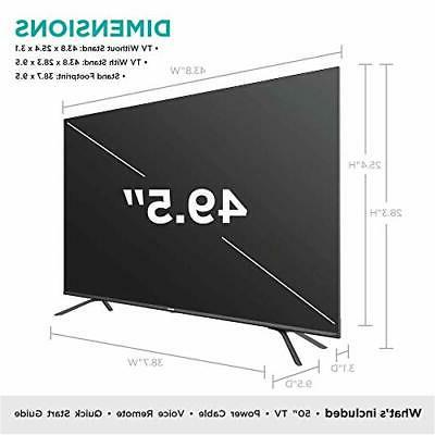 50-Inch Class H8 Android ULED TV with Voice Remote (50H8G,