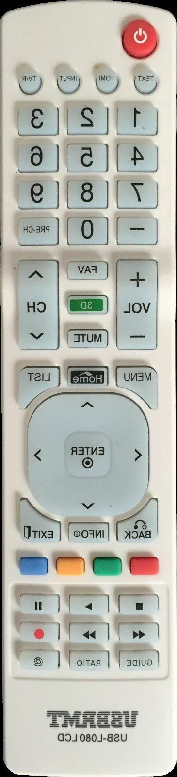 New USB Remote for RCA Smart Black Remote Programmed