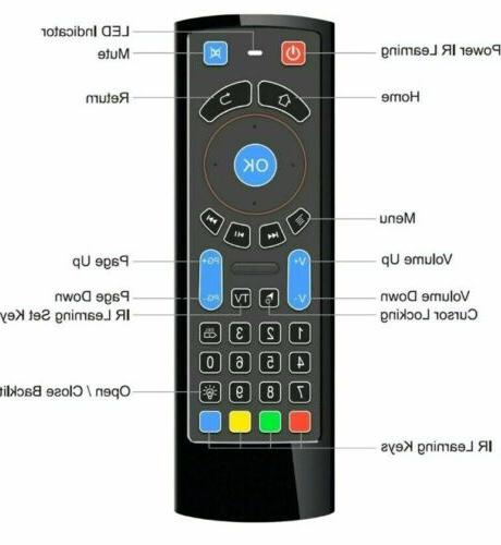 Bluetooth Keyboard Remote for Android TV Box TV
