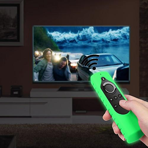 Fintie for Amazon Stick Remote, with Amazon Echo Remote Series Proof Green-Glow in