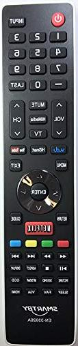 Smartby Remote Control Compatible with Hisense EN-33926A Rep