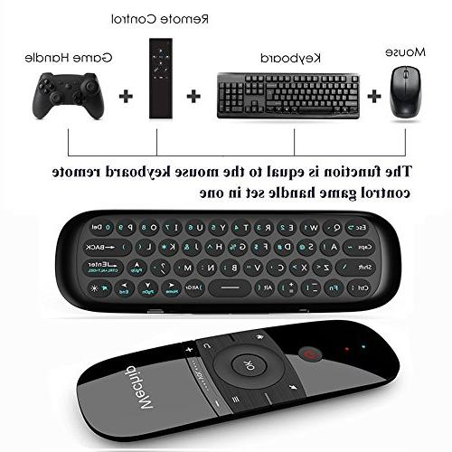 Wechip 2.4G Smart Wireless Keyboard Fly W1 for Android Box/PC/Smart TV/Projector/HTPC/All-in-one PC/TV