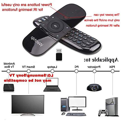 Wechip 2.4G Wireless Keyboard Fly Mouse W1 Multifunctional for Android TV/Projector/HTPC/All-in-one