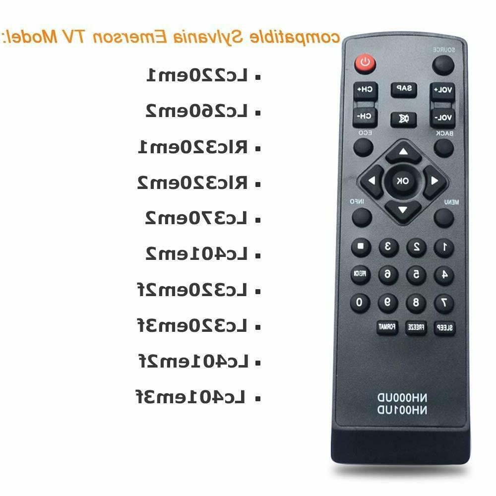 new emerson sylvania tv replacement remote control