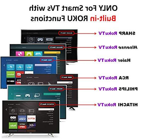 TV Remote Control Fits LG HAIER RCA Philips TV, ROKU TV ONLY STICK PLAYER