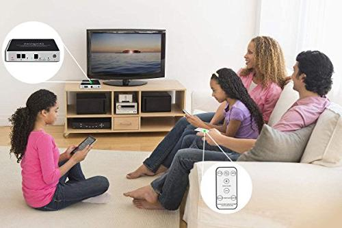 Optical to RCA, Digital to Optical to with Remote, Remote Control, Optical and Power Adapter