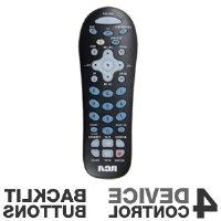 RCA RCR412BN 4 Device Backlit Keypad Remote