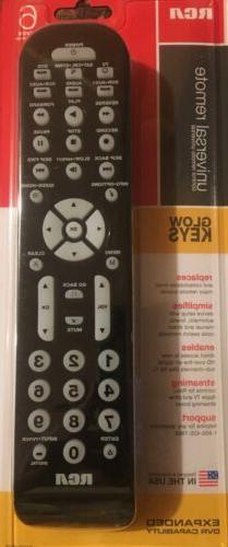 RCA RCR6473Z 6 device Universal remote control TV DVD apple