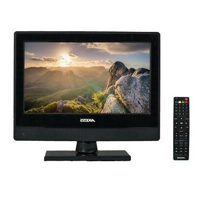 "Axess TV170513 HDTV LED 13"" Flat Screen TV Television + Remo"
