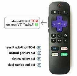 New Remote for Hisense ROKU TV w/ Volume Control and TV Powe