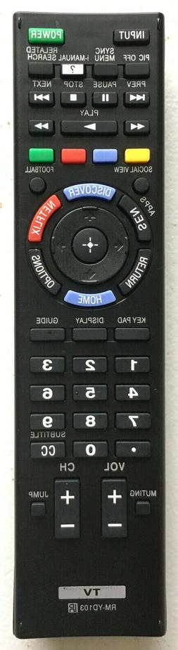 New TV Remote RM-YD102 For SONY Bravia TV KDL-46HX850 KDL-50