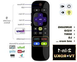 IKU-P81 2-in-1 Universal IR Remote Compatible with ROKU Expr