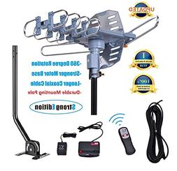 150 Miles Range-Amplified Digital Outdoor TV Antenna with Mo