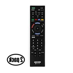 2 Pack Replacement Sony RM-YD102 TV Remote Control for Sony