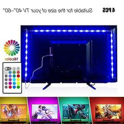 PANGTON VILLA Led Strip Lights 6.56ft for 40-60in TV USB Bac