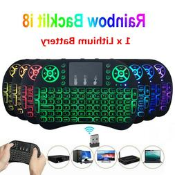Wireless Touchpad Air Remote Mini KEYBOARD Backlit 2.4GHz Fo